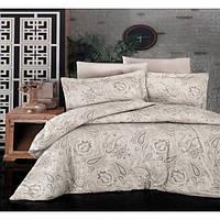 Комплекты постельного белья First Choice. Satin Бежевый-Евро 7433, фото 1