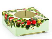 """Коробка """"Новорічна"""" з віконцем, 1 виріб, фото 1"""