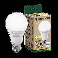 LED лампа светодиодная ENERLIGHT A80 20W 6500K E27 (холодный белый свет)