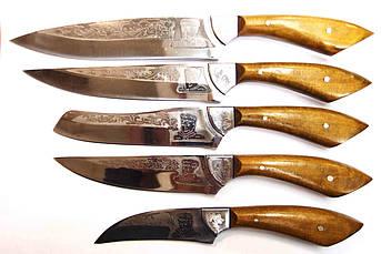 """Набор кухонных ножей ручной работы 5шт  """"Хозяйке от лентяйки 2"""", фото 2"""