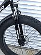 Велосипед ФЕТБАЙК Спорт 26 дюймов Горный спортивный велосипед FatBike 215 ЧЕРНЫЙ Внедорожник Fat Bike, фото 7