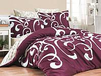 Комплекты постельного белья First Choice. Satin Темно розовый-Евро 7436, фото 1