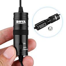 Петличный электретный конденсаторный микрофон Boya BY-M1 3,5мм с переходником