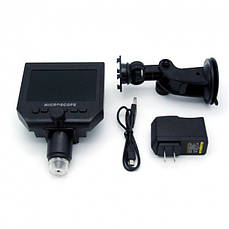 Микроскоп цифровой c 4.3 ЖК дисплеем, аккумулятором, MicroSD, 1-600X