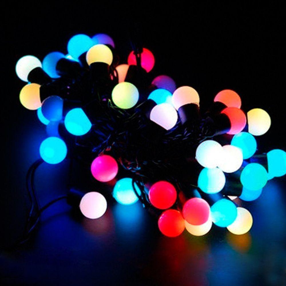 """Світлодіодна гірлянда """"Кульки"""" середні (1.8 см) 40 ламп, 4.5 м"""