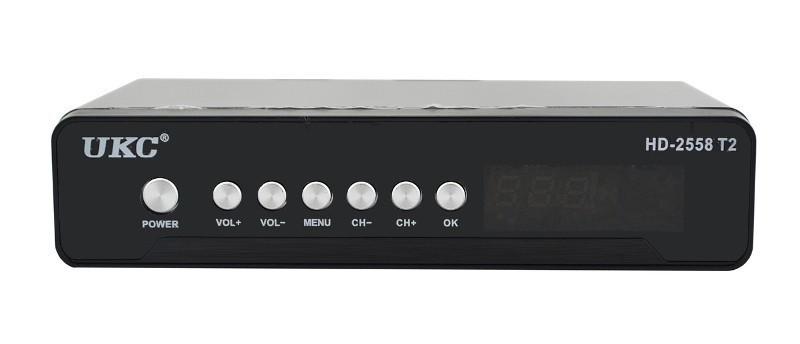 Тюнер цифровой UKC DVB-T2 2558 METAL