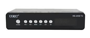 Тюнер цифровой UKC DVB-T2 2558 METAL, фото 2