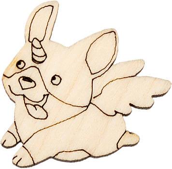 Пес з крилами 3х3см фанера(10)