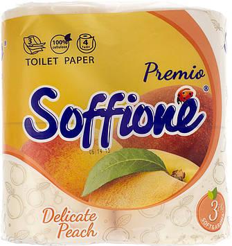 "Туалетний папір ""Soffione Premio Aroma"" 3шар. (4шт)(12)"