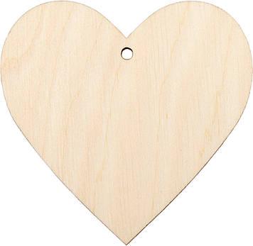 Серце з отвором 5х6см фанера(5)