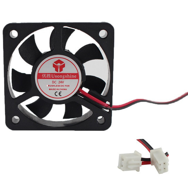 Вентилятор 50мм 24В 2пин кулер, VGA, 3D-принтер