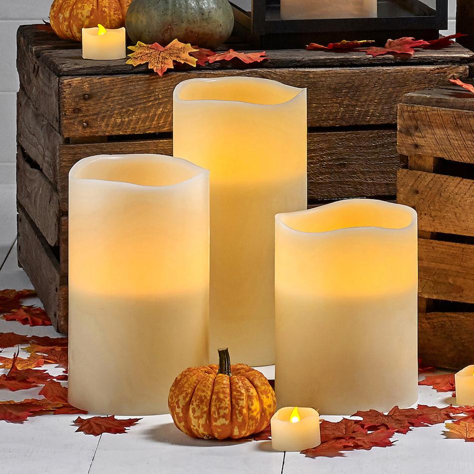 Свічки світлодіодні електронні LED Torch Candle (3 шт. в наборі)
