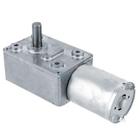 Мотор редуктор червячный JGY-370 6В 2об/мин, фото 2