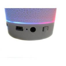 Портативная колонка плеер MP3 FM AUX T2020 White, фото 3