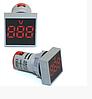Вольтметр врізний AD101-22VM LED AC20-500V червоний ST 880R