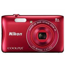 Фотоаппарат Nikon Coolpix S3700, красный