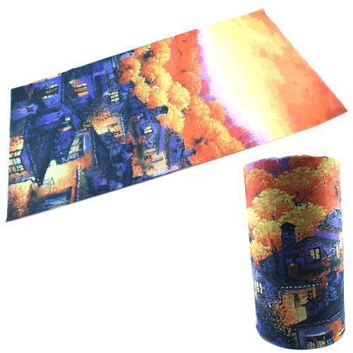 Бафф бандана-трансформер, шарф из микрофибры, осень2