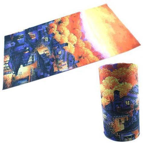 Бафф бандана-трансформер, шарф из микрофибры, осень2, фото 2