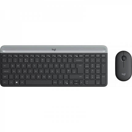Комплект (клавиатура, мышь) Logitech MK470 Wireless Slim Graphite (920-009206), фото 2