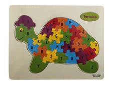 Обучающая деревянная доска, рамки вкладыши, пазл, черепаха