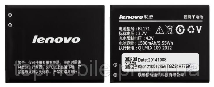 Аккумулятор  Lenovo BL171, 1500mAh (батарея, АКБ)