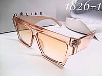 Тренд женские солнцезащитные очки маска Celine оправа персик прозрачная