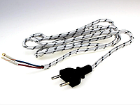 Шнур утюжный с вилкой б/з 1,5м GAV 778, фото 1