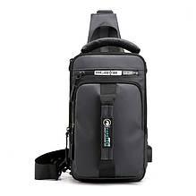 Однолямочний рюкзак-сумка Mackros 1100 міський вологостійкий сірий 4л