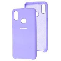 Чехол Silicone Case для Samsung Galaxy A10s A107 Lilac (самсунг а10с)