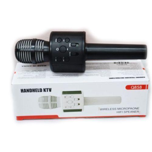 Беспроводной микрофон караоке bluetooth WS858 Karaoke Black