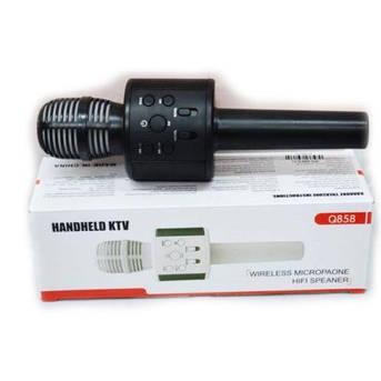 Беспроводной микрофон караоке bluetooth WS858 Karaoke Black, фото 2