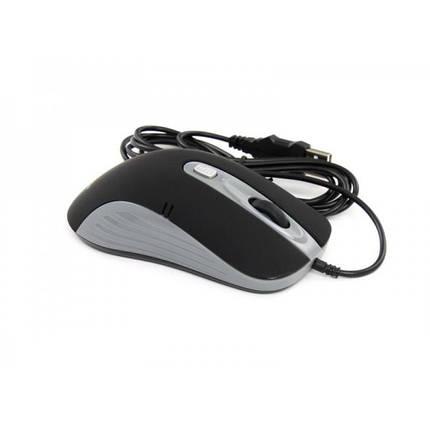 Мышь ProLogix PSM-200BG; Black/Grey 800/1400 DPI USB 1,5m, фото 2