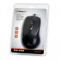 Мышь REAL-EL RM-290 Black USB, фото 3