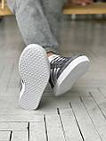 Мужские кроссовки Adidas Gazelle в стиле Адидас Газели СЕРЫЕ (Реплика ААА+), фото 3