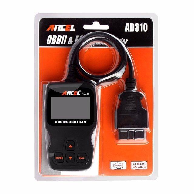 Диагностический сканер ANCEL для авто OBD-2 EOBD AD310 (56125)