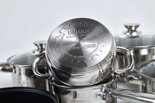 Набор посуды UNIQUE UN-5033 из нержавеющей стали 12 предметов, фото 2