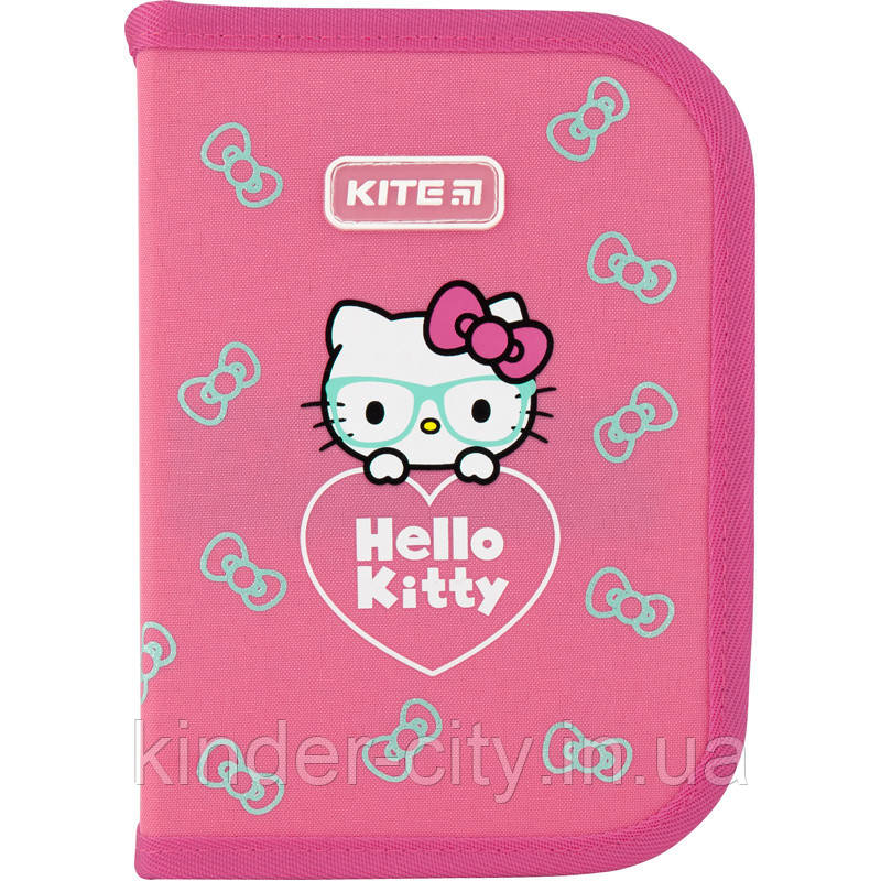 Пенал для девочки Kite Education Hello Kitty HK20-622, 1 отделение, 2 отворота