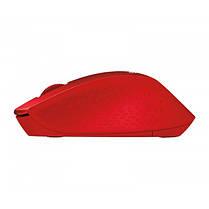 Мышь беспроводная Logitech M330 Silent Plus (910-004911) Red USB, фото 3
