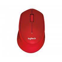 Мышь беспроводная Logitech M330 Silent Plus (910-004911) Red USB, фото 2