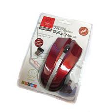 Беспроводная оптическая мышка мышь 145 Red, фото 3