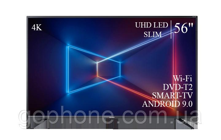 "Телевизор Sharp 56"" Smart-TV//DVB-T2/USB АДАПТИВНЫЙ UHD,4K/Android 9.0"