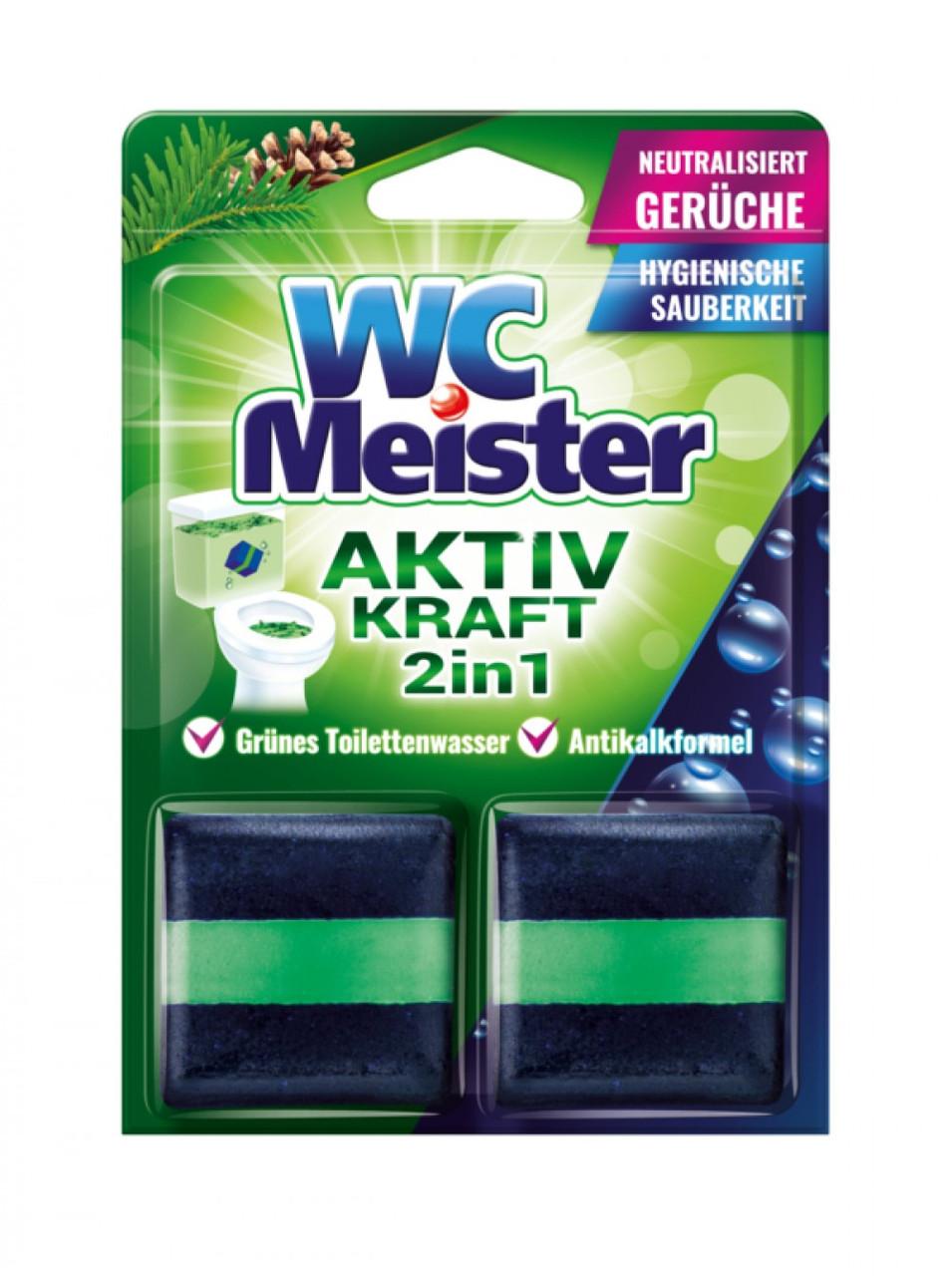 Таблетка для зливного бачка WC Meister Forest Activ kraft 2in1 2*50 г (Хвоя)