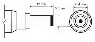 Кабель провод 7.4x5.0 штекер для ремонта блока питания HP DELL, фото 2