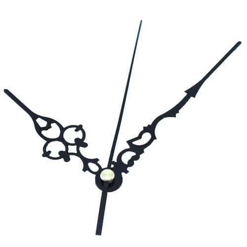 Стрелки для часов, часового механизма, комплект из 3 стрелок, черные