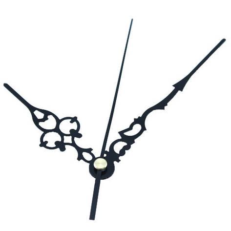 Стрелки для часов, часового механизма, комплект из 3 стрелок, черные, фото 2