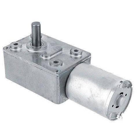 Мотор редуктор червячный JGY-370 12В 100об/мин, фото 2