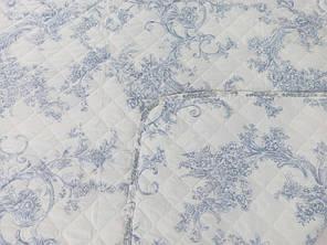 Покрывало на кровать, диван 140х205 Завиток голубой полуторное, фото 2