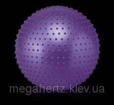 Мяч для фитнеса Фитбол Profit 65 см массажный с шипами фиолетовый, фото 2
