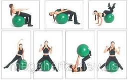 Мяч для фитнеса Фитбол Profit 65 см массажный с шипами фиолетовый, фото 3