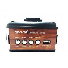 Портативная колонка радио караоке MP3 USB Golon RX-199 c Led фонариком, фото 3
